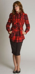 Sally Tseng Plaid Jacket